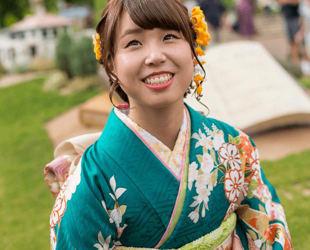 茨城の成人式の振袖写真